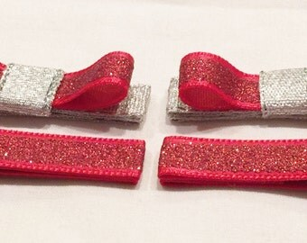 Red Hair Clips Silver Hair Clips Barrettes And Clips Girls Hair Clips Toddler Hair Clips Hair Accessories Hair Bow Clips