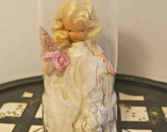 Beautiful Angelic Doll in Antique Cloche