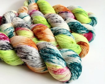 REBEL - Hand Dyed Yarn - Sparkle Sock Yarn Fingering - Ready to Ship - Vivid Yarn Studio