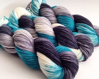 Hand Dyed Yarn - London Fog - Superwash Merino DK - Ready to Ship - Vivid Yarn Studio