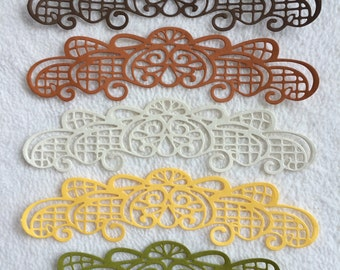 Scrapbook Borders...5 Piece Set of Very Beautiful Autumn Colours Scrapbook Border Embellishments