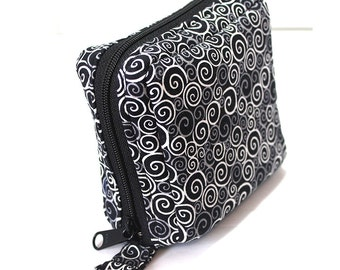 Essential Oil Roller Bottle Case Black and White Swirls