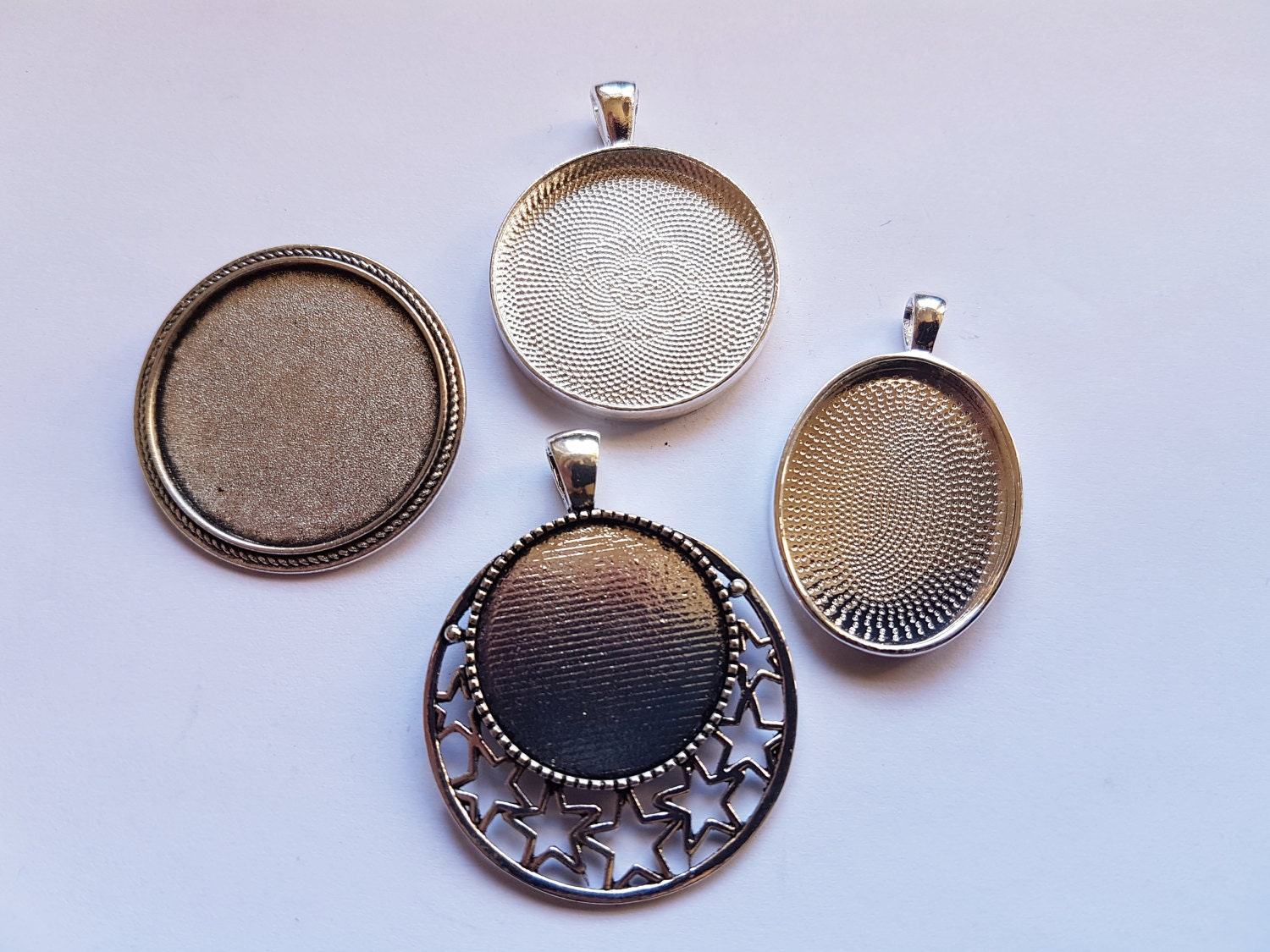 A variety of pendant bases