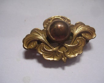 Antique Victorian or Edwardian PIn/Pendant  with Rose Gold Top