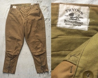 deadstock ca. 1920s Tryon's Buffalo Brand hunting pants / breeches 34