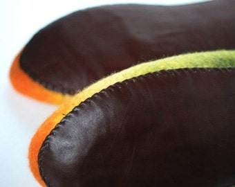 Leather soles for my felted slippers