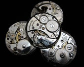Vintage Antique Round Watch Movements Steampunk Altered Art Assemblage A 65