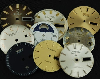Vintage Antique Watch Dials Steampunk  Faces Parts Altered Art Industrial O 16