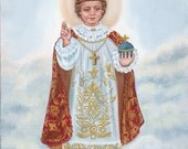 The Infant of Prague, Infant King and Priest, Jesus 8 X 10 Print on 110lb Card Stock Taken from my Original Acrylic Painting, Catholic Art,
