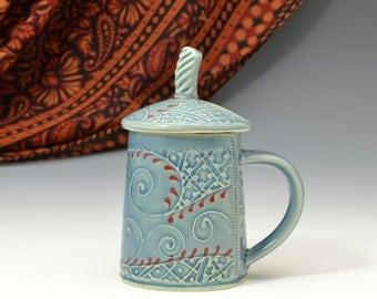 Lidded Teacup Mug  READY TO SHIP