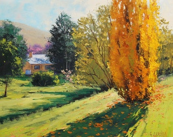 Poplar autumn Trees landscape fine art by Graham Gercken
