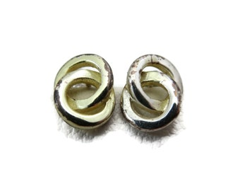 Sterling Silver Everyday Earrings - Vintage, Short Small Circles, Studs, Posts