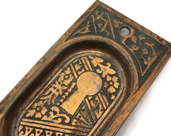 Copper Ornamental Keyhole - Decorative Piece, Arts and Crafts
