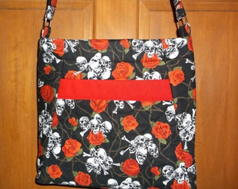 day of dead handbag shulls and roses