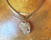 RESERVED for Roseann Crystal Choker Necklace // PETALITE // Healing Crystals // Reiki Jewelry // Heart Shaped // Boho Jewelry