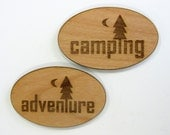 Outdoor Wood Magnets, Camping, Hiking, Kayaking, Canoeing, Adventure, Explore, Exploring, Camp, Backpacking, Cabin Decor, Travel, Campsite