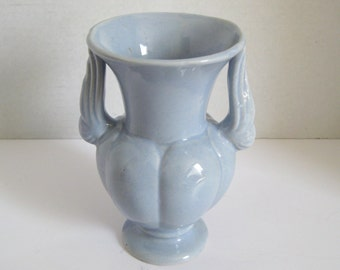 Vintage Niloak Light Blue Double Handle Vase