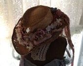 Country Girl Alterd Western Hat - lots of embellishments!