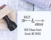 Wedding Stamp - Cupid's Arrow, Custom Stamp, Arrow Stamp, Custom Wedding Stamp, Address Stamp, Wooden Stamp, Self Inking Stamp, Rubber Stamp