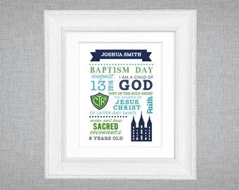 LDS baptism printable - display sign  - subway word art - boys baptism gift - choose the right - CTR
