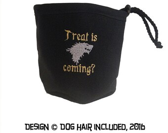 Treat is Coming? Treat Pouch and Water Bowl