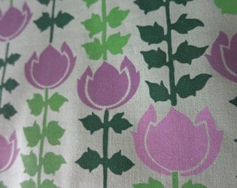Purple Lilac Flower Garden - Hand-printed cotton fabric