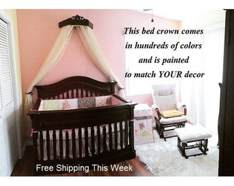 wall canopy for nursery, classic nursery color, baby bed canopy, wall crown, canopy crib crown