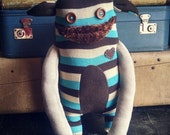 """Sweater Monster """"Franzen"""" - One Of A Kind / Eco Friendly / Reclaimed / Upcycled Stuffed Animal"""