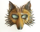 Wolf Leather Mask dog shepherd in brown and black