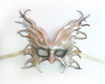READY TO SHIP Dark Angel Leather Mask   wings  bird gothic steampunk Mardi Gras