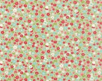 Moda Vintage Picnic 55126 15 Gray Multi Tiny Floral By The Yard