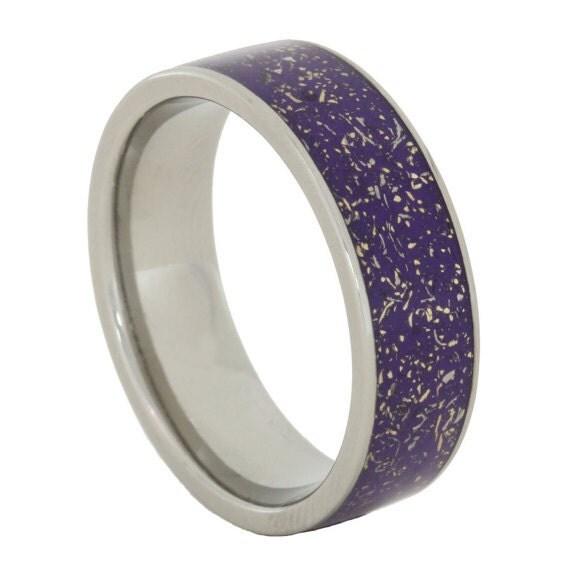 meteorite ring titanium wedding band with by jewelrybyjohan