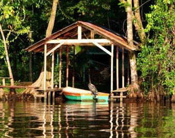 River Boathouse, photographic print