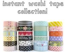 Washi Tape Set - 50 Mixed Rolls - Random Selection - Wholesale Washi Tape Rolls - Bulk Washi Tape - Washi Tape Pack - Masking Tape Set