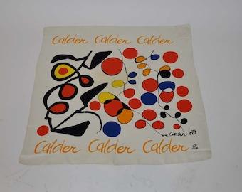 alexander calder /  Vintage Alexander Calder 69 Silk Scarf 27/250