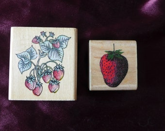 Strawberry Fields Forever / Strawberry Rubber Stamps