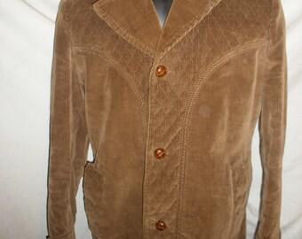 Vintage Mens Shamhouse Sports Outerwear Brown Coat Jacket 100% Cotton Size 36