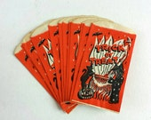Vintage Halloween Trick or Treat Candy Loot Bags - Unused - Witch Cat Cauldron - 12 lot