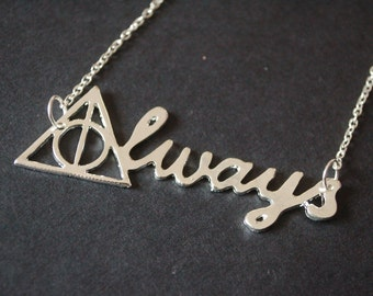 Harry Potter 'always' necklace