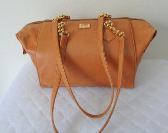 Authentic GianFranco Ferre Boston bag shoulder bag   tote purse satchel signed numbered soft  buttery smooth gen leather vintage 80ss