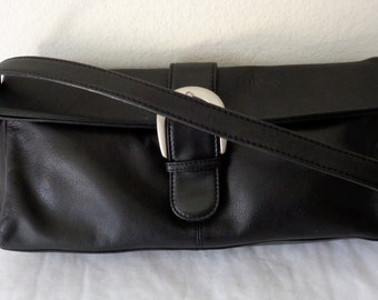Ili genuine leather m size  shoulder bag, purse, satchel, evening bag, clutch black mint