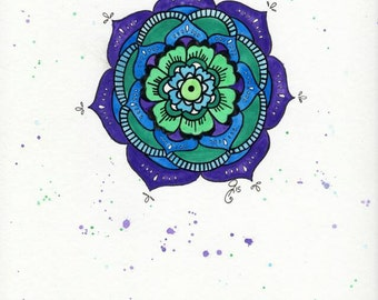 Mandala Flower Painting