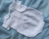 Baby onesie, baby playsuit, crochet onesie, crochet baby clothes, christening set, newborn onesie, baby boy clothes, white onesie, baptism