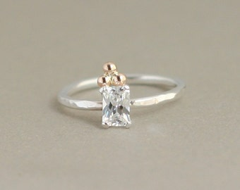 diamond ring. gold ring. modern engagement ring. geometric ring. boho ring. 14k gold filled. alternative engagement ring. art deco style.