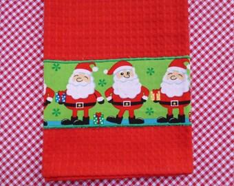 Christmas Red Tea Towel (559)