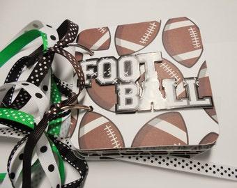 Football Mini Scrapbook Album, Football Scrapbook, Football Mini Album, Football Photo Album, Football Brag Book, Football Album
