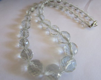 lead crystal bead necklace
