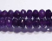 Purple Jade Faceted Rondelle Gemstone Beads.....6x4mm....10 Beads