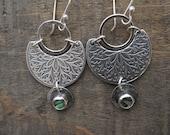 Mandala and abalone earrings by teresamatheson