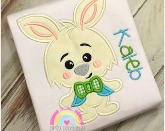 Boy Easter Bunny  Shirt - Easter Bunny - Boys Easter Shirt - Easter Bunny with Bow Tie - Easter Shirt - Sibling Easter Shirts